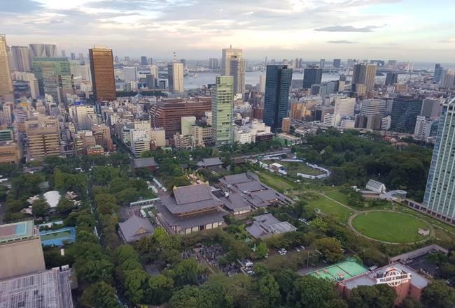 Shiba Park visto da Tokyo Tower durante o dia