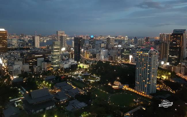 Shiba Park visto da Tokyo Tower durante a noite