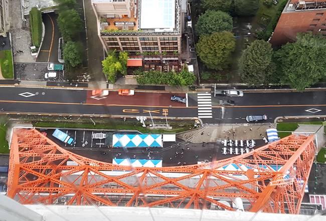 Tokyo Tower: olhando para baixo