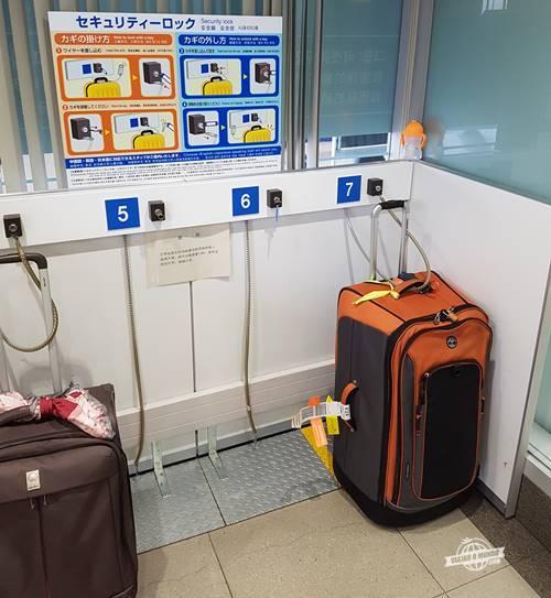 Estacionamento de malas no Aeroporto Kansai