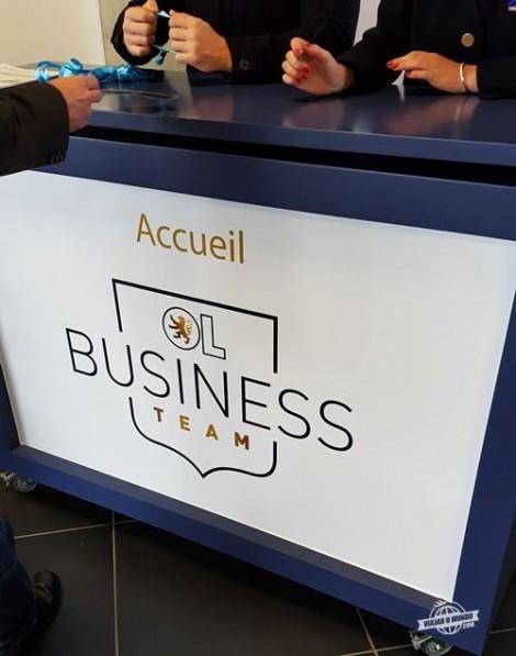 Recepção Cercle OL: experiência VIP do Olympique Lyonnais