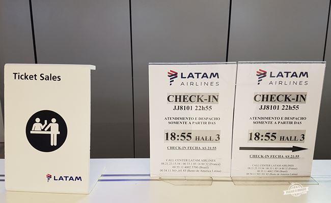 Check-in da Latam só abre quatro horas antes do voo