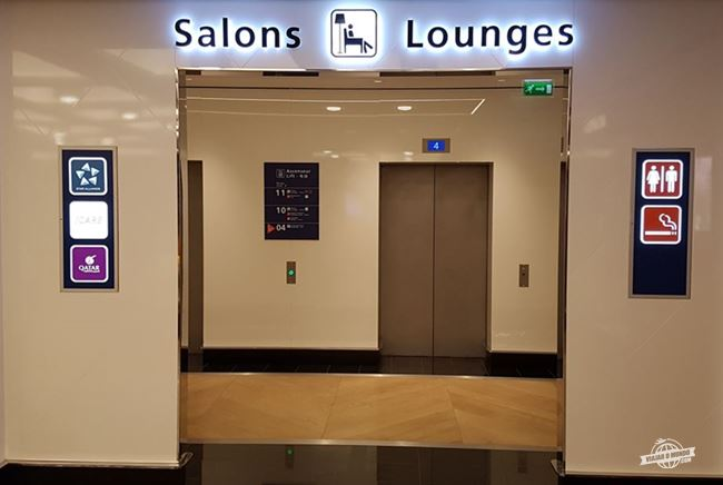 Elevadores de acesso à Sala VIP Star Alliance do Aeroporto Charles de Gaulle