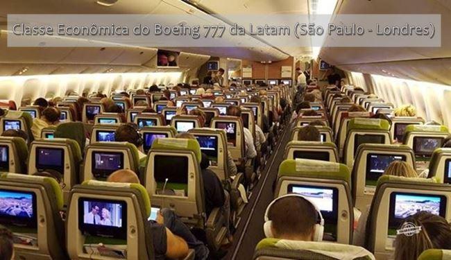 Classe Econômica do Boeing 777 da Latam - Conheça todas as classes do Boeing 777 da Latam
