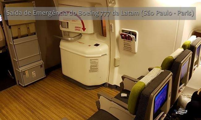 Saída de Emergência do Boeing 777 da Latam