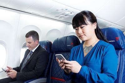 Serviços de mensagens gratuitos nos voos da Delta