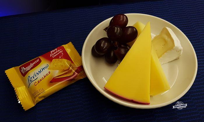 Seleção de queijos.