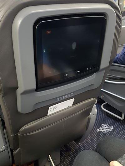 Espaço para as pernas - Primeira Classe do 737-800 da American Airlines