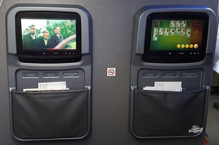 Sistema de Entretenimento - Primeira Classe do 737-800 da American Airlines
