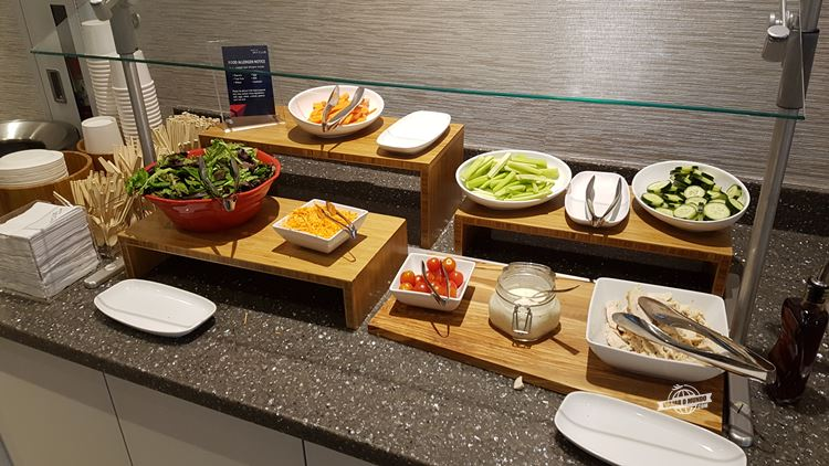 Buffet - Delta Sky Club do Aeroporto de Dallas