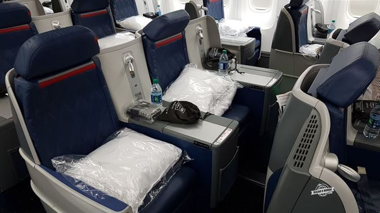 Assentos centrais - Classe Executiva Delta One do 767 (ATL - GIG)