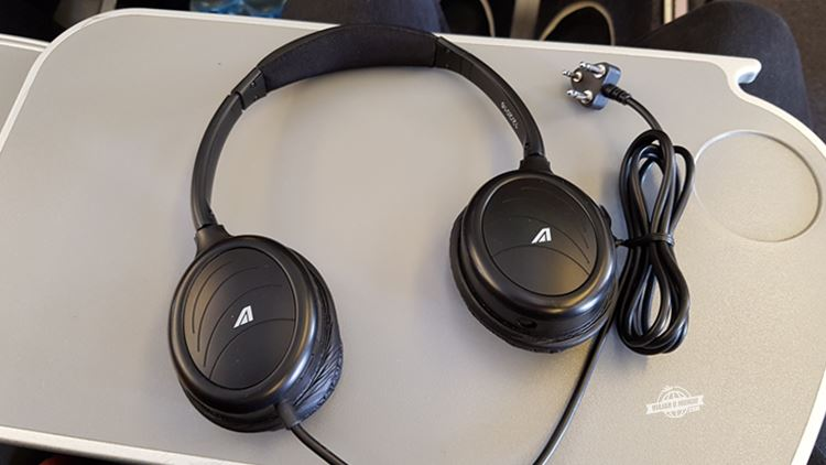Fones de ouvido - Premium Economy da Alitalia