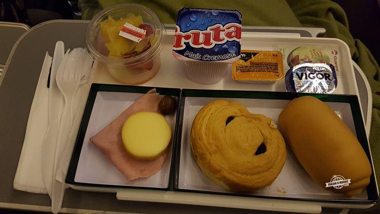 Café da manhã - Premium Economy da Alitalia