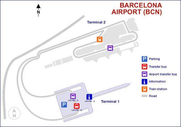 Mapa do Aeroporto El Prat (fonte: www.barcelona-airport.com)