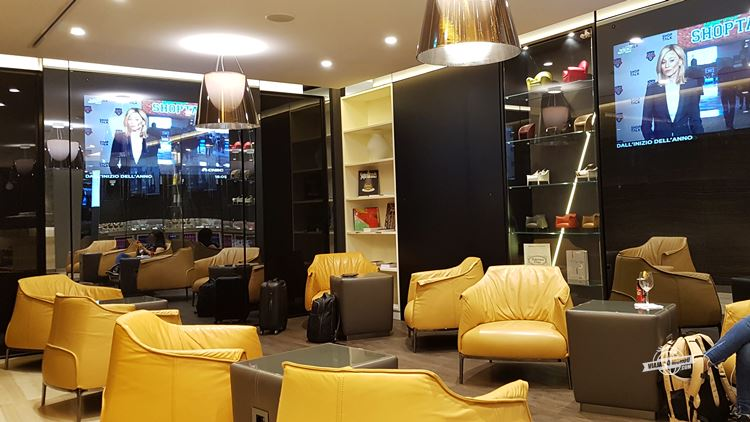 Lounge Casa Alitalia Fiumicino. Blog Viajaromundo.com - Dicas de viagem