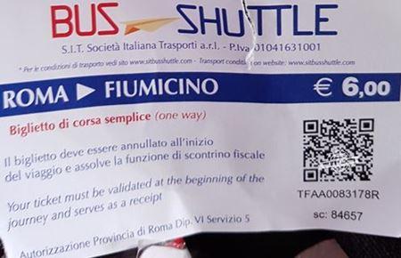 Passagem Roma - Fiumicino - SIT Bus -Como ir do Aeroporto para Roma de ônibus.
