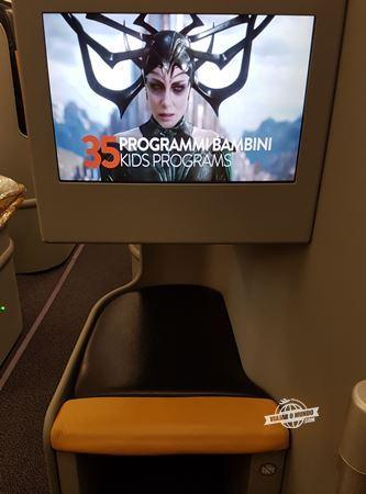 Tela do sistema de entretenimento da Alitalia (Magnifica)