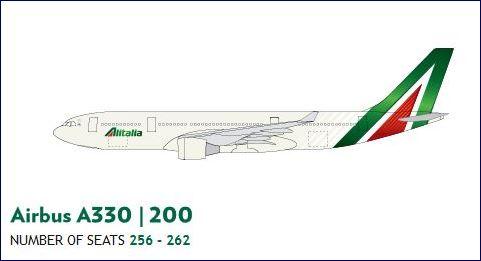 Airbus A330-200 da Alitalia (fonte: alitalia.com)