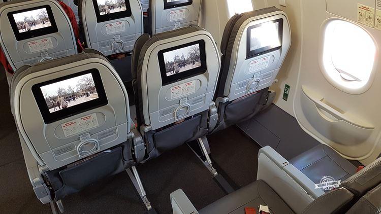 Assentos da saída de emergência - A320Neo da Avianca Brasil