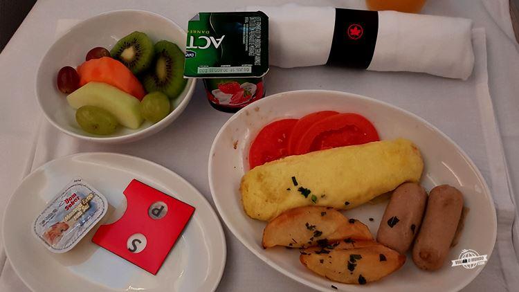 Café da manhã - Air Canada Signature Class