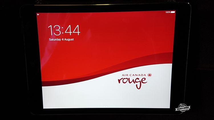 Sistema de entretenimento - Air Canada Rouge. Viajar o Mundo