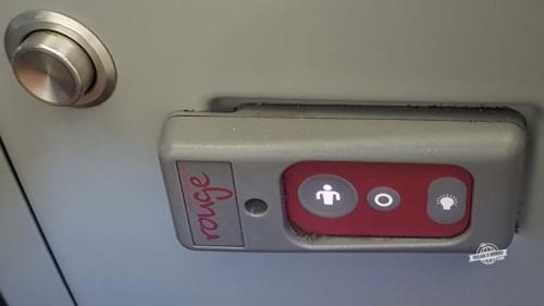 Comando do assento - Premium Rouge do 767. Viajar o Mundo.