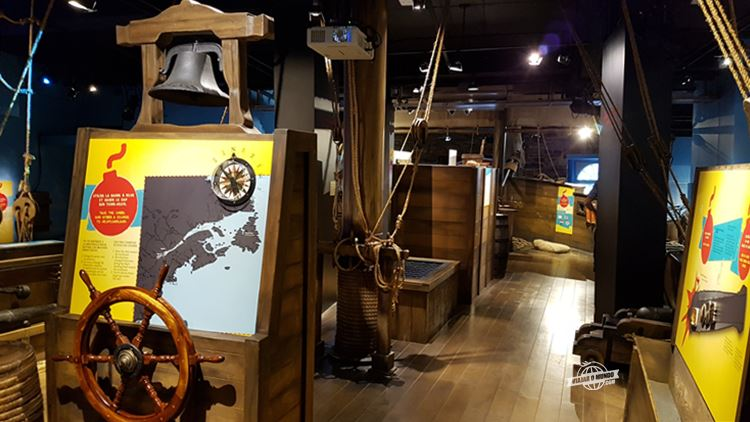 Exposição permanente sobre piratas e corsários - Museu de Pointe-à-Callière.