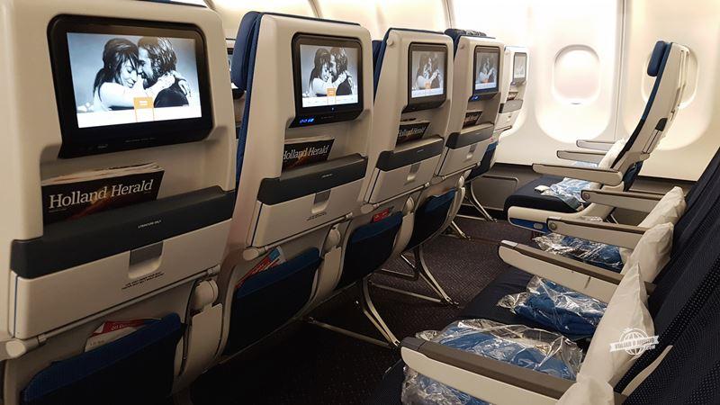 Assentos centrais - Economy Comfort do A330 da KLM - Blog Viajar o Mundo