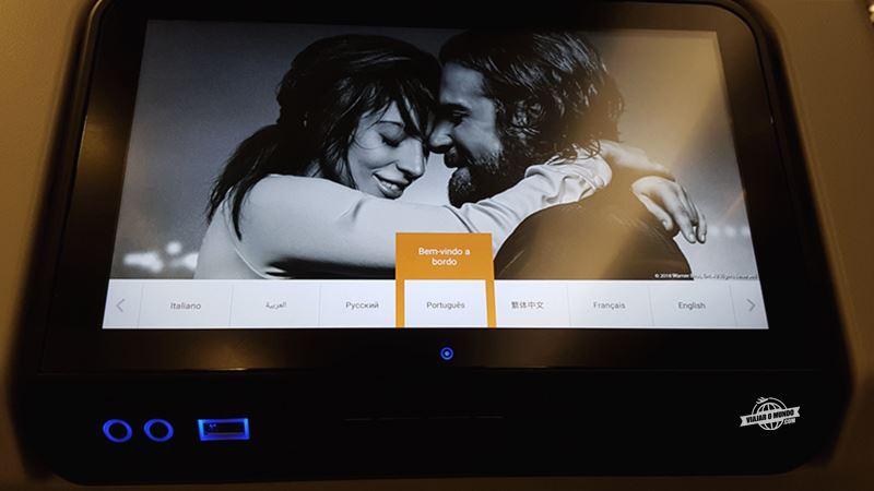 Conectores da tela do sistema de entretenimento. Blog Viajar o Mundo