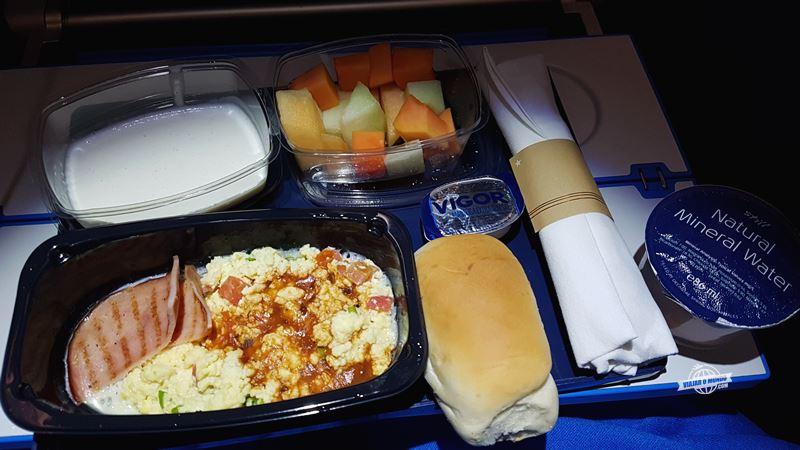 Café da manhã - Economy Comfort do A330 da KLM. Blog Viajar o Mundo