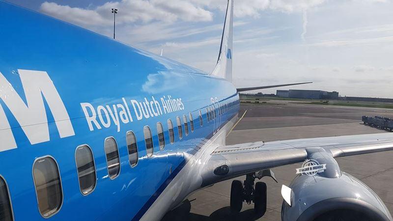 Classe Econômica do 737 da KLM. Blog Viajar o Mundo