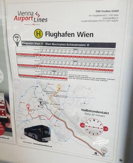 Vienna Airport Line 2 - Como ir do Aeroporto de Viena para a cidade de ônibus. Blog Viajar o Mundo