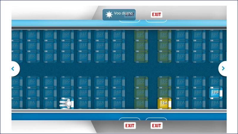 Mapa de assentos - Classe Econômica do 737 da KLM. Blog Viajar o Mundo