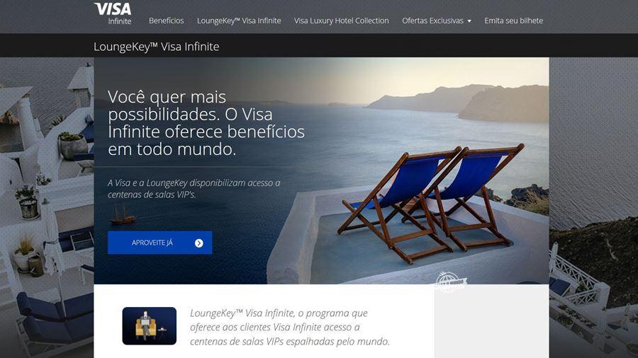 Programa Visa Infinite LoungeKey (fonte: visa-infinite.com/br/lounge-key). Blog Viajar o Mundo