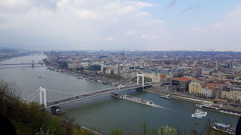 Vista da Citadella - Elisabeth Bridge. O que fazer em Budapeste. Blog Viajar o Mundo.