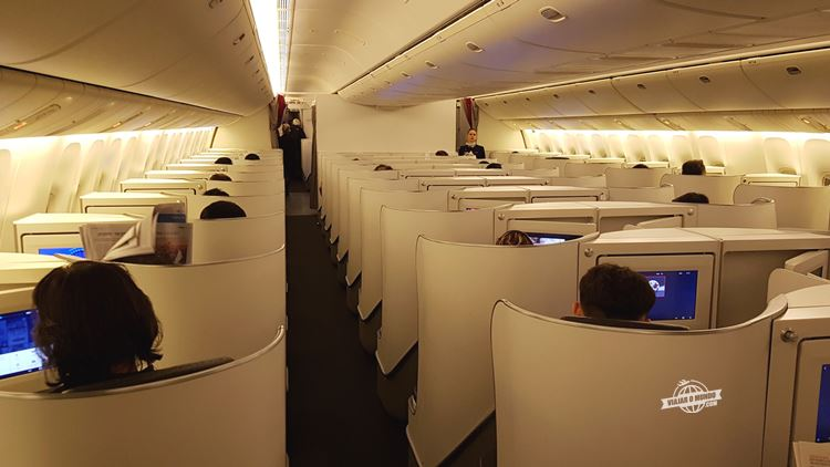 Classe Executiva da Air France. Blog Viajar o Mundo