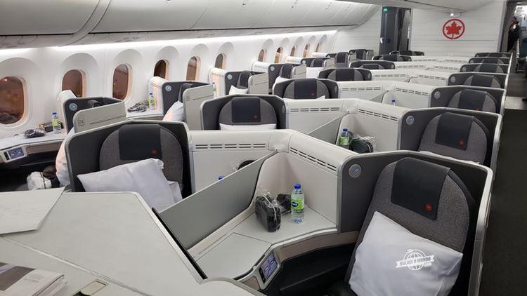 Classe Executiva da Air Canada - Boeing 787-9 (São Paulo - Toronto). Blog Viajar o Mundo.
