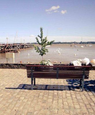 vista al rio en Colonia del Sacramento Uruguay