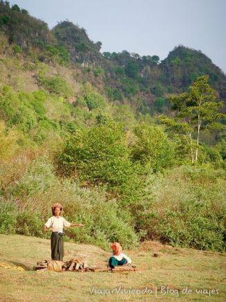 el campo en Myanmar