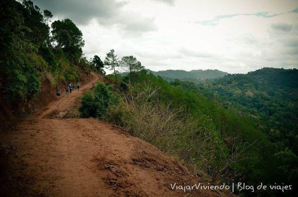 sendero cerca de Kalaw Myanmar