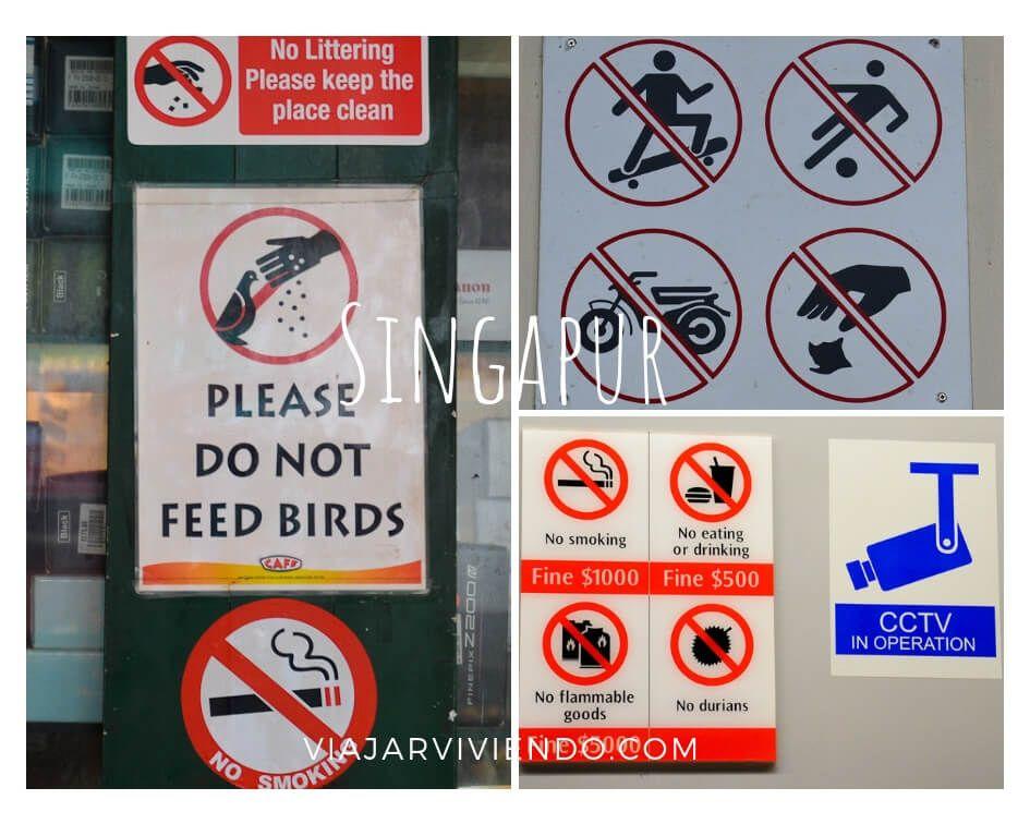 que no se puede hacer en Singapur