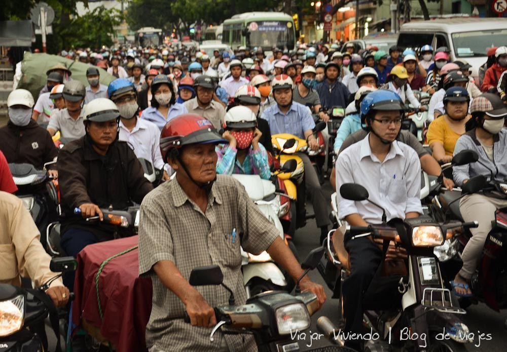 ho chi minh caos trafico - consejos viajar a Vietnam