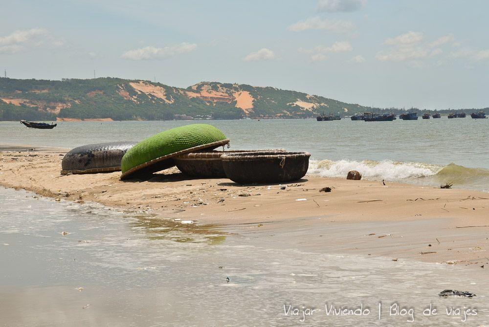 Mui Ne pescadores bote - consejos viajar a Vietnam