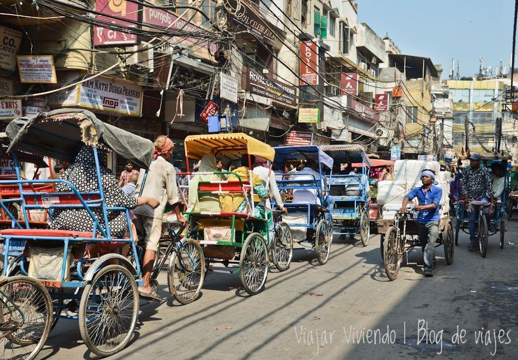 Delhi caos trishaw - visa para viajar a India, Nepal y Maldivas