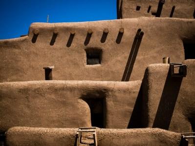 Detalle de la arquitectura de adobe de Pueblo de Taos