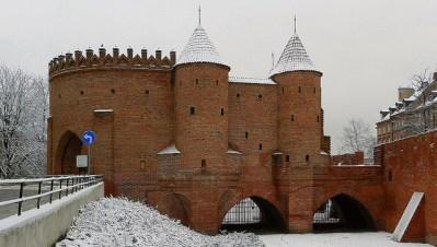 Barbacana de Varsovia, superviviente de las antiguas fortificaciones