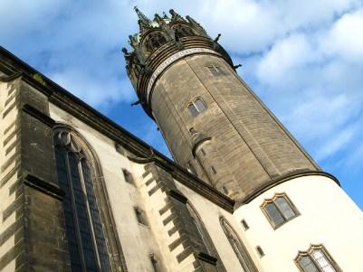 Torre de la iglesia del Castillo en Wittenberg