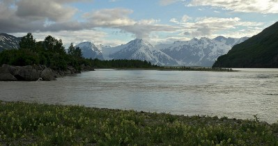 Río Alsek en British Columbia, Canadá