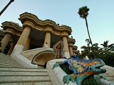 Escultura en trencadís en el Parque Güell