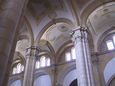 Bóvedas vaídas de la catedral de Baeza